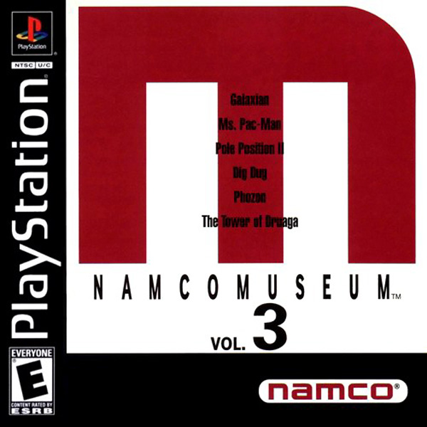 Namco Museum Vol. 3 Sony PlayStation cover artwork