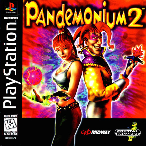Pandemonium ! 2 Sony PlayStation cover artwork