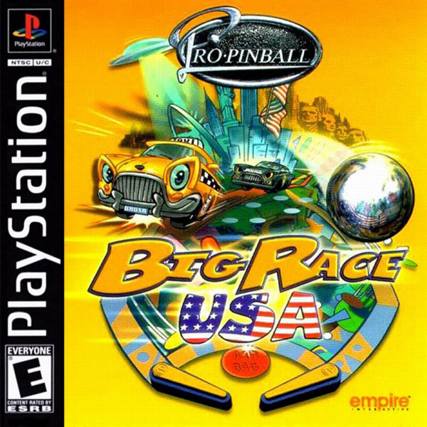 Pro Pinball - Big Race USA Sony PlayStation cover artwork