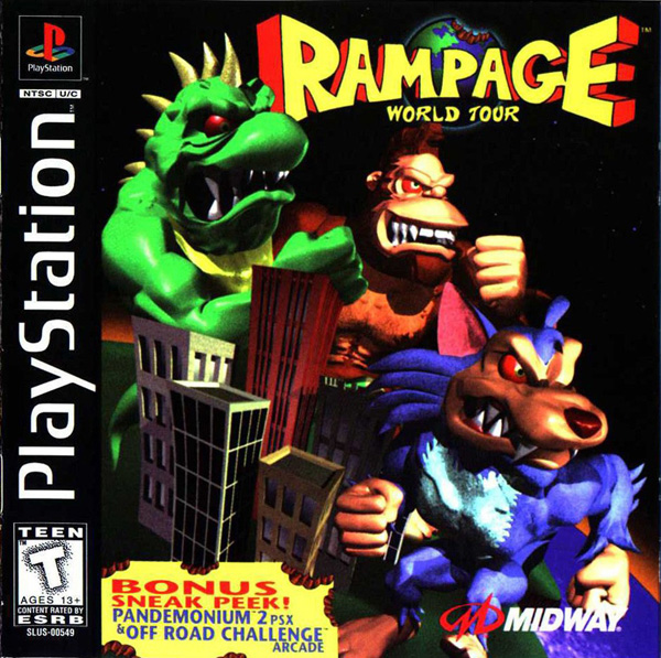 Rampage - World Tour Sony PlayStation cover artwork