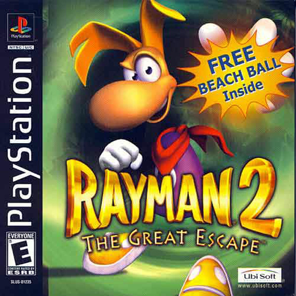 Rayman 2 - The Great Escape Sony PlayStation cover artwork