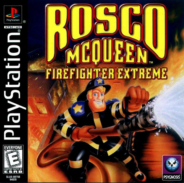 Rosco McQueen Firefighter Extreme Sony PlayStation cover artwork