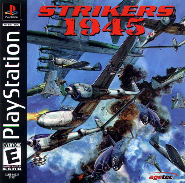 Strikers 1945 Sony PlayStation cover artwork