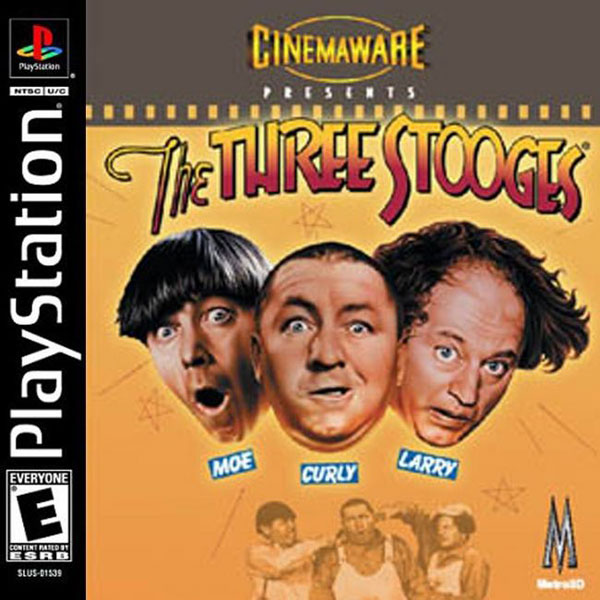 Three Stooges, The Sony PlayStation cover artwork