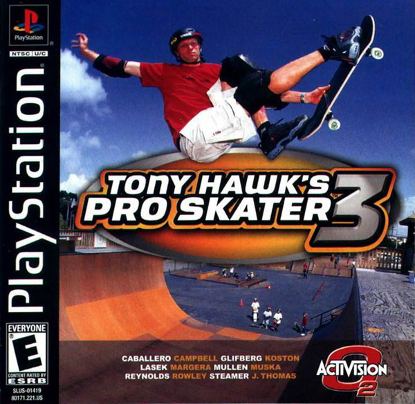 Tony Hawk's Pro Skater 3 Sony PlayStation cover artwork