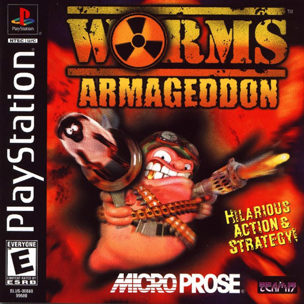 Worms Armageddon Sony PlayStation cover artwork
