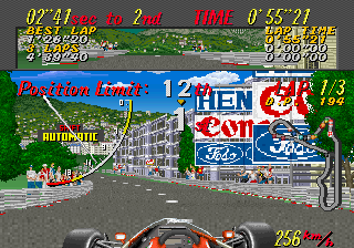 Super Monaco GP ingame screenshot