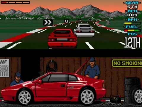 Lotus Esprit Turbo Challenge ingame screenshot