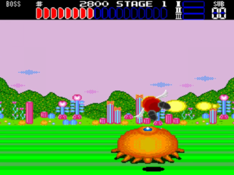 Space Fantasy Zone ingame screenshot