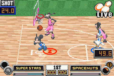 Disney Sports - Basketball ingame screenshot