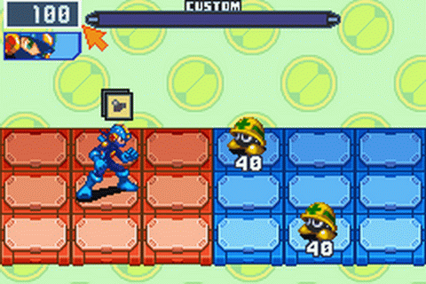 Mega Man Battle Network 6 - Cybeast Falzar ingame screenshot