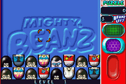 Mighty Beanz Pocket Puzzles ingame screenshot