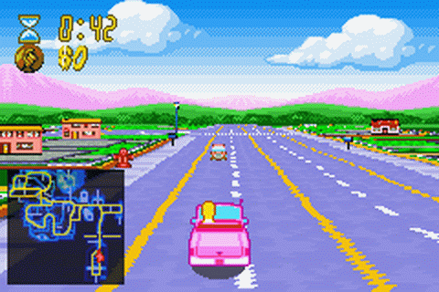 Simpsons, The - Road Rage ingame screenshot