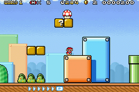 Super Mario Advance 4 - Super Mario Bros. 3 ingame screenshot