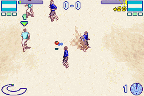 Ultimate Beach Soccer ingame screenshot