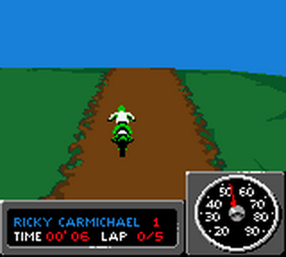 Championship Motocross 2001 featuring Ricky Carmichael ingame screenshot