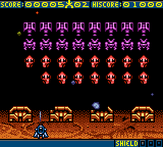 Space Invaders ingame screenshot