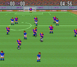 Super Soccer ingame screenshot