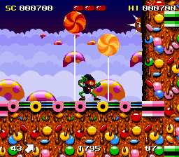Zool - Ninja of the Nth Dimension ingame screenshot