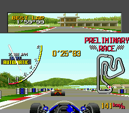 Ayrton Senna's Super Monaco GP II ingame screenshot