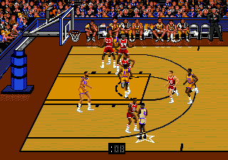 Bulls vs Lakers and the NBA Playoffs ingame screenshot
