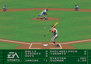 La Russa Baseball 95 ingame screenshot