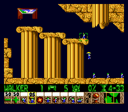 Lemmings ingame screenshot