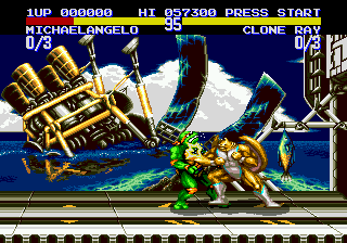 Teenage Mutant Ninja Turtles - Tournament Fighters ingame screenshot