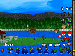 3D Lemmings ingame screenshot