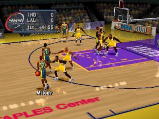 NBA ShootOut 2001 ingame screenshot