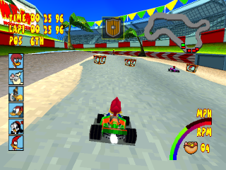 Woody Woodpecker Racing ingame screenshot