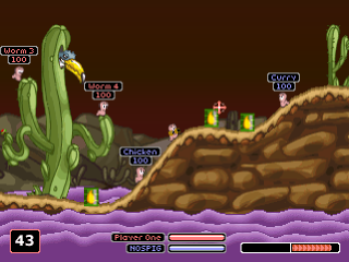 Worms Armageddon ingame screenshot