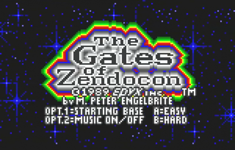 Gates of Zendocon, The title screenshot