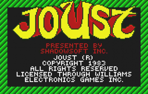 Joust title screenshot