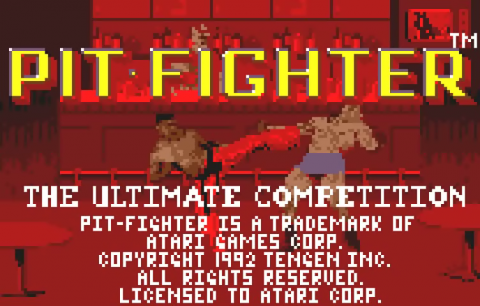 Pit Fighter - The Ultimate Competition title screenshot