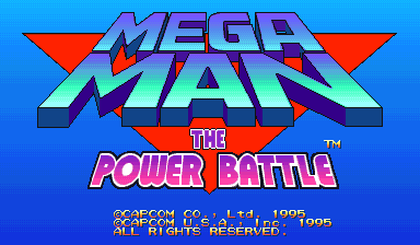 Mega Man: The Power Battle title screenshot