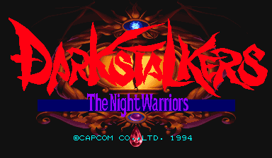 Darkstalkers : The Night Warriors title screenshot