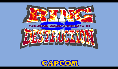 Ring of Destruction : Slammasters II title screenshot