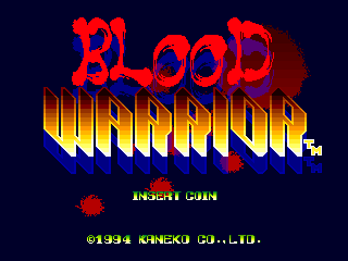 Blood Warrior title screenshot