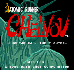 Chelnov - Atomic Runner title screenshot
