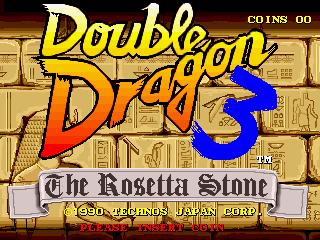 Double Dragon 3 - The Rosetta Stone title screenshot
