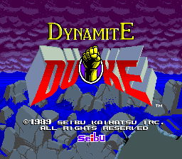Dynamite Duke title screenshot