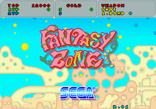 Fantasy Zone title screenshot