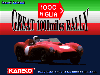 Great 1000 Miles Rally : 1000 Miglia title screenshot