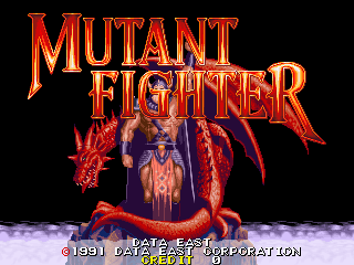 Mutant Fighter title screenshot