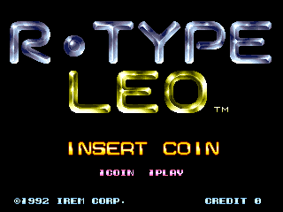 R-Type Leo title screenshot