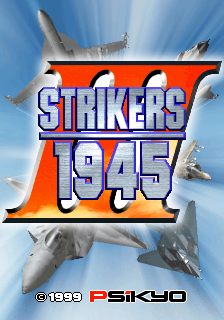 Strikers 1945 III : Strikers 1999 title screenshot