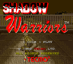 Ninja Gaiden - Shadow Warriors title screenshot
