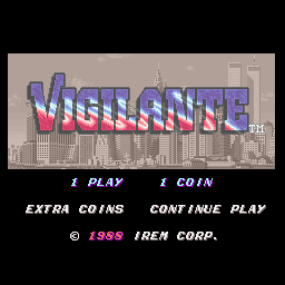 Vigilante title screenshot