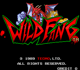 Wild Fang - Tecmo Knight title screenshot